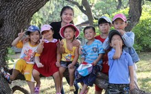 """Những """"bông hoa nhỏ"""" trên đảo Song Tử Tây - Ảnh: Báo Tuổi trẻ"""