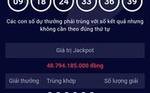 Kết quả mở thưởng kỳ 72 xác định 1 vé trúng giải Jackpot với dãy số may mắn 09-18-24-33-36-39