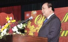 Thủ tướng Nguyễn Xuân Phúc phát biểu tại cuộc gặp mặt. Ảnh: VGP/Hồng Hạnh