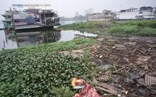 Toàn bộ khu vực các nhà nổi tháo dỡ ngập ngụa rác thải