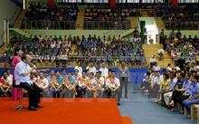 Thủ tướng Chính phủ Nguyễn Xuân Phúc tại buổi đối thoại trực tiếp với 3.000 công nhân, người lao động thuộc các khu công nghiệp, khu chế xuất 8 tỉnh, thành phố khu vực phía Nam từ Đà Nẵng đến TP Hồ Chí Minh