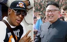 Dennis Rodman (trái) và Kim Jong Un