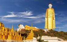 Tượng Phật Laykyun Sekkya nằm trên đỉnh đồi Po Kaung, Myanmar