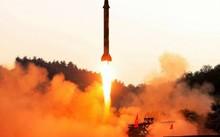 Một vụ thử tên lửa của Triều Tiên. Ảnh: AFP