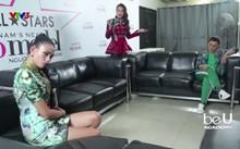 Không khí giữa hai vị giám khảo trở nên căng thẳng. Ảnh: VTV3