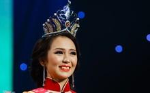 Nguyễn Thị Hải Yến xúc động chào khán giả sau khi nghe tin cô được đăng quang ngôi vị cao nhất