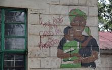 Bức tranh tường, thể hiện ước vọng của những đứa trẻ nhiễm HIV tại Tanzania