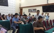 Buổi họp báo chiều ngày 17/8 đang diễn ra