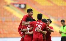 Cầu thủ VIệt Nam ăn mừng chiến thắng. Ảnh: Đình Viên
