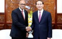 Chủ tịch nước Trần Đại Quang tiếp Đại sứ Cuba. Ảnh: TTXVN