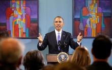Cựu tổng thống Obama hầu như đã tránh việc lên tiếng về các chính sách của người kế nhiệm. Ảnh: Reuters