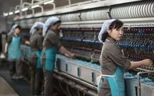Công nhân trong một nhà máy tơ lụa ở Bình Nhưỡng. Ảnh: AFP