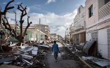 Người dân trên đảo St. Martin sống trong cảnh thiếu lương thực, nạn hôi của. (Nguồn: AFP)
