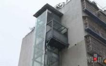 Chiếc thang máy chỉ có một lối dẫn vào duy nhất là trên tầng 6 của khu chung cư