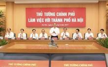 Thủ tướng Chính phủ Nguyễn Xuân Phúc làm việc với TP Hà Nội. Ảnh Hanoimoi