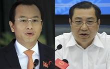 Bí thư Đà Nẵng Nguyễn Xuân Anh và Chủ tịch UBND TP Huỳnh Đức Thơ.