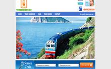 Một website bán vé tàu Tết Đinh Dậu giả.