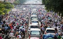 Tình trạng ùn tắc trên địa bàn TP HCM ngày càng nghiêm trọng.