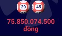 Giải đặc biệt trị giá 75.850.074.500 đồng xuất hiện ngày chủ nhật, mùng 2 Tết.