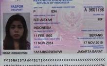 Hộ chiếu Indonesia mà nữ nghi phạm thứ hai mang theo.