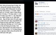 Cách tính BHXH đang lan truyền trên mạng và nhận hàng chục ngàn lượt like, chia sẻ, bình luận. Ảnh chụp Facebook.