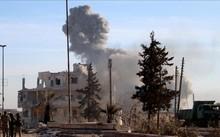 Hiện trường một vụ đánh bom ở Syria do IS thực hiện.
