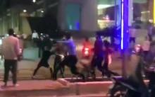 Nhóm thực khách bị đuổi chém trên dường Trần Phú.