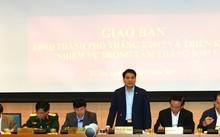 Chủ tịch TP Hà Nội phát biểu tại cuộc họp