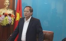 Bộ trưởng Bộ Thông tin và Truyền thông Trương Minh Tuấn phát biểu tại buổi làm việc.