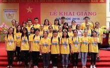 Lớp 11C5, Trường THPT chuyên Phan Bội Châu (Nghệ An) có 31 học sinh thì cả 31 em đều đạt giải cao tại kỳ thi chọn HSG tỉnh năm học 2016-2017 (Phương Anh đứng giữa, hàng đầu tiên).