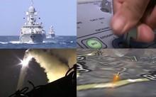 Tàu chiến, tàu ngầm Nga bắn tên lửa vào IS. Nguồn: RT