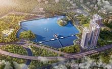 Các căn penthouse, sky villa Vinhomes Skylake là nơi tuyệt vời nhất để phóng tầm mắt ra xa, ôm trọn hồ nước và công viên rộng lớn, cũng như bao quát toàn cảnh khu trung tâm hành chính mới của thủ đô.