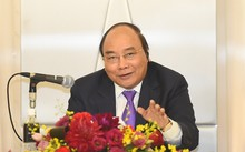 Thủ tướng Chính phủ Nguyễn Xuân Phúc phát biểu tại tọa đàm. Ảnh: VGP/Quang Hiếu