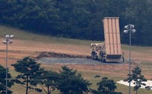 Một hệ thống THAAD được triển khai tại sân golf ở Seongju, Hàn Quốc. Ảnh: Yonhap