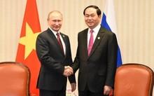 Tổng thống Nga Vladimir Putin và Chủ tịch nước Trần Đại Quang