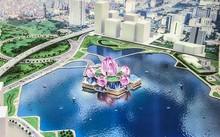 Phối cảnh nhà hát Hoa Sen được giới thiệu tại Hội nghị xúc tiến đầu tư TP Hà Nội cuối tháng 6. Ảnh: PK.