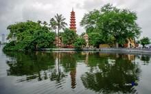 Chùa Kim Liên nằm trên một doi đất bằng phẳng trong thôn Nghi Tàm, xã Quảng An. Ảnh: Hachi8.