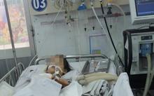 Trẻ thở máy điều trị viêm não Nhật Bản tại Bệnh viện Nhi đồng 1. Ảnh: Lê Phương.