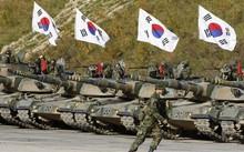 Lực lượng xe tăng của quân đội Hàn Quốc. (Nguồn: AP)