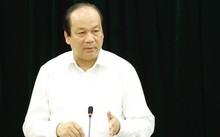 Bộ trưởng Mai Tiến Dũng tại cuộc làm việc với Tổng công ty đường sắt VN. Ảnh: HT
