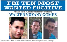 Hình ảnh Gomez trong danh sách truy nã của FBI. Ảnh: ABC News.