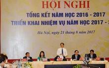 Phó thủ tướng Vũ Đức Đam phát biểu tại Hội nghị tổng kết năm học 2016-2017 và triển khai nhiệm vụ năm học 2017-2018 của Bộ Giáo dục và Đào tạo. Ảnh: Đăng Lương.
