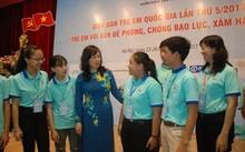 Trẻ em tại Diễn đàn trẻ em quốc gia năm 2017. (Ảnh: PV/Vietnam+)