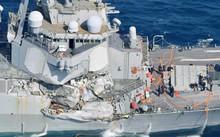 Tàu chiến Mỹ hư hỏng nặng sau tai nạn