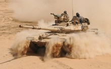 Xe tăng của quân đội Syria. (Nguồn: almasdarnews.com)