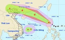 Đường đi của áp thấp nhiệt đới và bão theo Trung tâm dự báo khí tượng và thuỷ văn Trung ương.