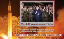 Nhà lãnh đạo Triều Tiên Kim Jong-un xuất hiện trong bộ tem.