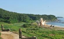 Một cuộc tập trận bắn đạn thật của Mỹ và Hàn Quốc. Ảnh minh họa: Reuters.
