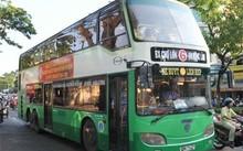 Xe buýt 2 tầng chạy tuyến ĐH Nông lâm TP.HCM - bến xe Chợ Lớn. Ảnh:  Báo Xây dựng