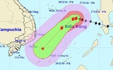 Hướng di chuyển của bão số 10 từ ngày 27 đến 29/12. Ảnh: Trung tâm dự báo Khí tượng Thủy văn Trung ương.